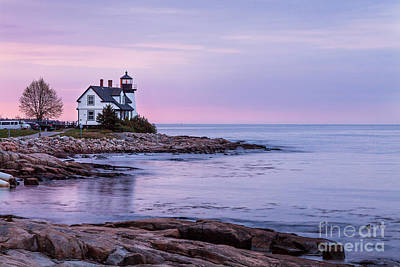 Photograph - Dawn At Prospect Harbor Light by Susan Cole Kelly
