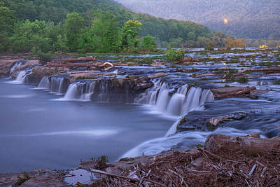 Photograph - Dawn At Sandstone Falls by Mary Almond