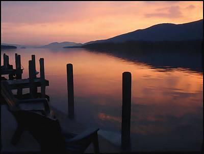 Dawn At The Docks Art Print by Hank Clark
