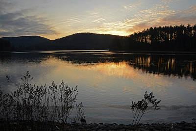 Dawn At The Lake Art Print