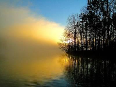 Dawn At Waters Edge Art Print