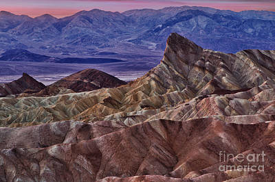 Art Print featuring the photograph Dawn At Zabriskie Point by Jerry Fornarotto