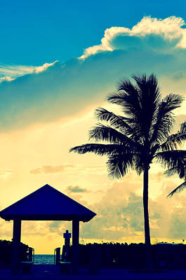 Palm Tree Photograph - Dawn Beach Pyramid by Laura Fasulo