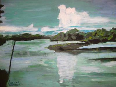Dawn Breaks On Jong River Mattru Sierra Leone Art Print
