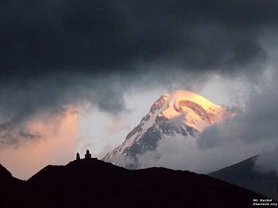 Dawn Caressing Mt Kazbek 2 Art Print