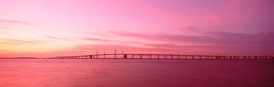 Chesapeake Bay Photograph - Dawn, Chesapeake Bay Bridge, Maryland by Panoramic Images