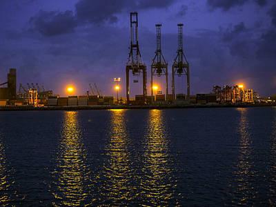 Photograph - Dawn Cloaks The Port Of Long Beach by Denise Dube