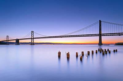 San Francisco Photograph - Dawn Colors - Bay Bridge by David Yu