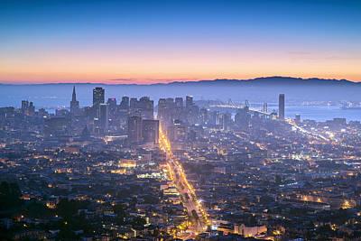 San Francisco Photograph - Dawn Colors - San Francisco by David Yu