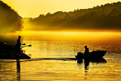 Photograph - Dawn Divides Us On The Chattahoochee by Mark E Tisdale
