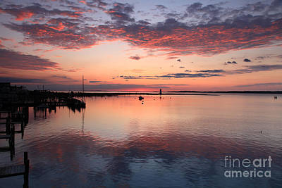 Photograph - Dawn Edgartown Light by Butch Lombardi