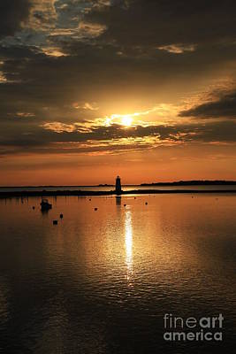 Photograph - Dawn Edgartown Light II by Butch Lombardi