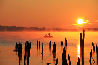 Photograph - Dawn Fishing by Roger Becker