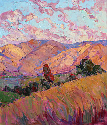Print featuring the painting Dawn Hills - Right Panel by Erin Hanson
