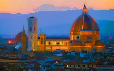 Painting - Dawn In Florence by Douglas MooreZart
