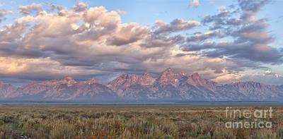 Photograph - Dawn In The Grand Tetons by Sandra Bronstein