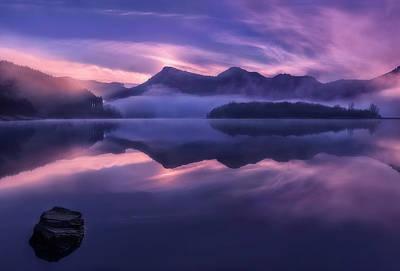 Swamp Photograph - Dawn In Urkulu by Fran Osuna