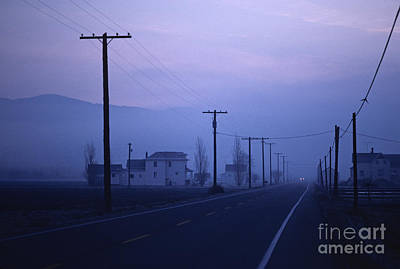 Telephone Poles Photograph - Dawn In Washington by Jim Corwin