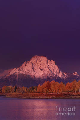 Photograph - Dawn Light On Tetons Fall Grand Tetons National Parketons National Park  by Dave Welling
