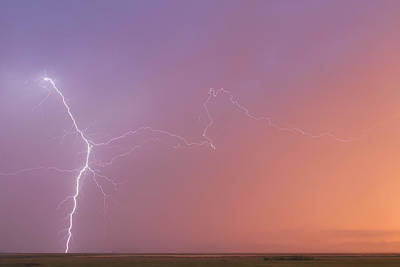 Photograph - Dawn Lightning by Rob Graham
