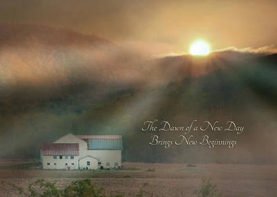 Rural Scenes Digital Art - Dawn by Lori Deiter