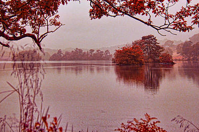 Photograph - Dawn Mists Rydal by Graham Hawcroft pixsellpix