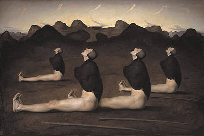 Lines Painting - Dawn by Odd Nerdrum