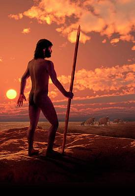 Early Human Photograph - Dawn Of Man by David Gifford