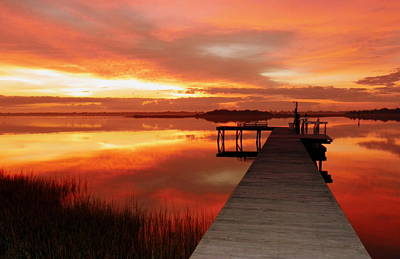 Dock Photograph - Dawn Of New Year by Karen Wiles