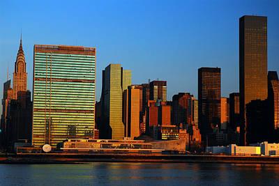 Dawn On Manhattan Art Print by James Kirkikis