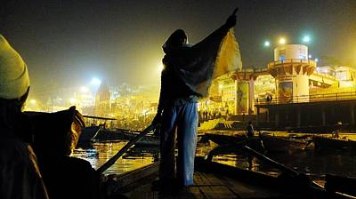 Photograph - Dawn On The Ganges by Greg Holden