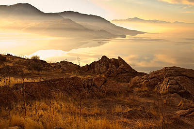 Photograph - Dawn On The Great Salt Lake by Utah Images