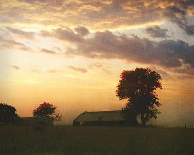 Photograph - Dawn On The Prairie by Ann Powell