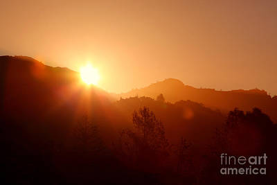 Dawn Over Calistoga Art Print by Posterity Productions