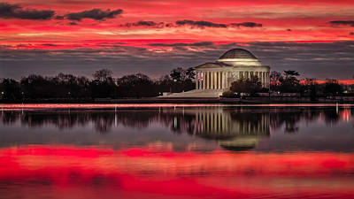 Photograph - Dawn Over Jefferson Memorial by Eduard Moldoveanu