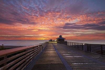 Florida Bridge Photograph - Dawn Over Juno by Debra and Dave Vanderlaan