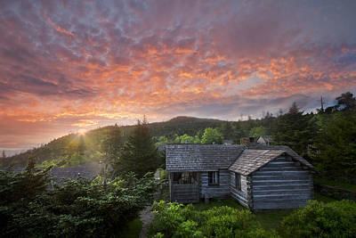Dawn Over Leconte Art Print by Debra and Dave Vanderlaan