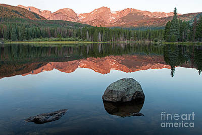Photograph - Dawn Over Sprague Lake In Rocky Mountain National Park by Fred Stearns