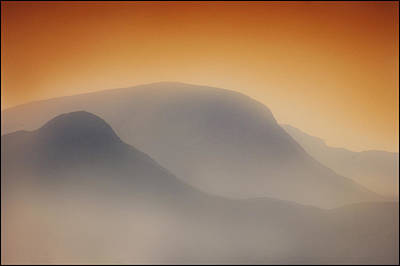 Silver Turquoise Photograph - Dawn Over The Mountains by Adrian Campfield