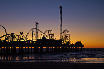 Dawn Over The Pier Print by John Collins