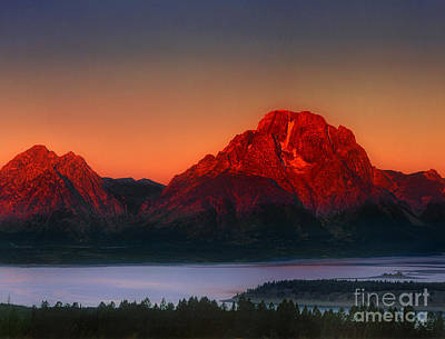 Photograph - Dawn Over The Tetons Grand Tetons National Park Wyoming by Dave Welling