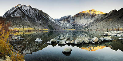 Convict Lake Photograph - Dawn Reflections by Andrew Soundarajan