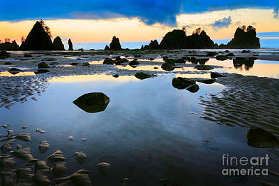 Olympic Peninsula Photograph - Dawn Seascape by Inge Johnsson