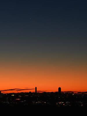 Dawn Sky Over Boston Art Print