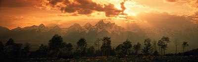 Teton Photograph - Dawn Teton Range Grand Teton National by Panoramic Images