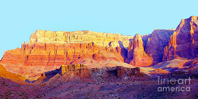 Dawn - Vermillion Cliff And Cathedral Canyon Art Print by Douglas Taylor