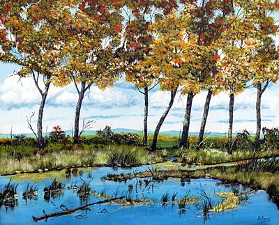 Sports Paintings - Dawns blue waters edge  by Michael Dillon