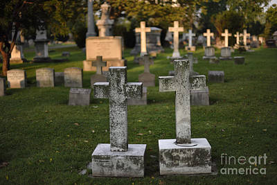 Soap Suds - Dawns Early Light at Oakwood Cemetery  by James Neiss