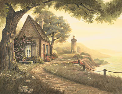 Lighthouse Wall Art - Painting - Dawn's Early Light by Michael Humphries