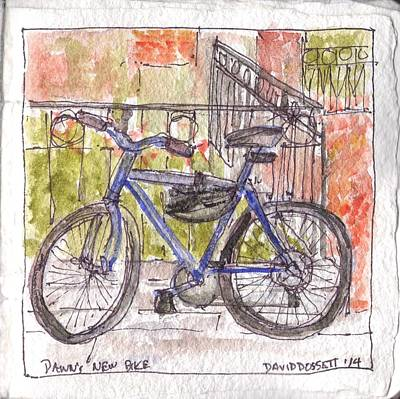 Painting - Dawn's New Bike by David Dossett